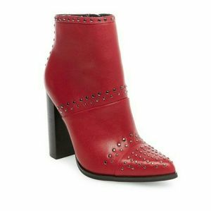 New Steve Madden Red Studded Leather boots
